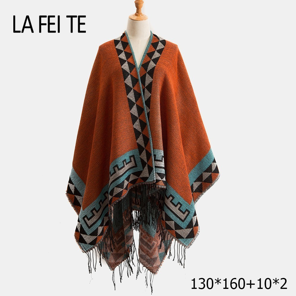 Cashmere Blanket Scarf Women Poncho Winter Wool  Stoles Cashmere Pashmina Shawl Female Long Winter Poncho For Women Scarf Warm