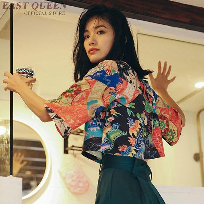 Kimonos femme 2018 kimono japonais cardigan cosplay chemise blouse pour femmes japonais yukata femme été kimono de plage DD1042
