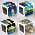 Toy Story Filme Good-looking Praça Do Relógio Digital LED Colorido Relógio Eletrônico Luz Filme Americano Brinquedos # F