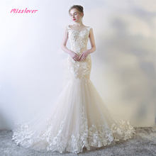 Vestido de noiva Mermaid Wedding Dresses Sleeveless Train