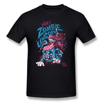 Casual Short Sleeve Attack Of The Zombie Unicorn Men's t-shirt Discount 100 % Cotton shirts for men