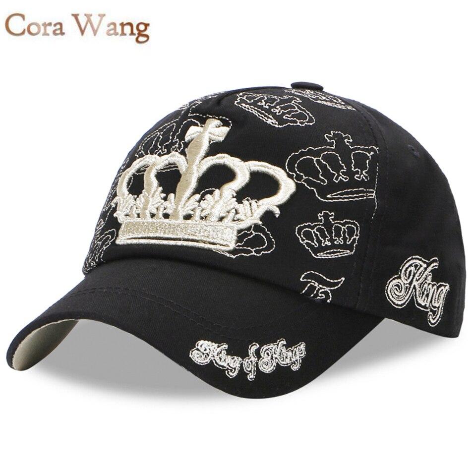 Prix pour Cora Wang Roi Couronne Casquette de baseball Femmes Réglable Snapback Cap pour garçon Fille Gorras Hip Hop Papa Cap Chapeau Hommes chapeau personnalisé casquette