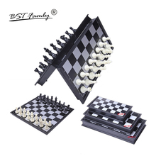 Quality Chess Game International Folding Chessboard Magnetic HIPS Plastic Pieces King Height 50/66/82mm BSTFAMLY I2