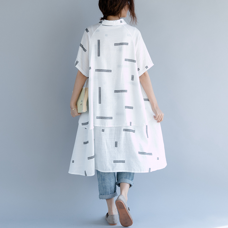 white Dobladillo Camisa Las Shirt Verano Mujeres Irregular Ropa Gran Solapa 2018 Corta Femenina Manga Black De Suelta Blusa Tamaño Moda Shirt Impresión Chicever pOPn6q11