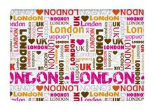 Floor Mat Pink Fashion Love London repeat Typography Print Non-slip Rugs Carpets alfombra For Indoor Outdoor living kids room