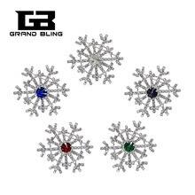 Crytal Snowflake Brooch pin Rhinestone Handmade Jewelry  FREE SHIPPING