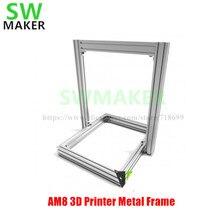 Marco de Metal de extrusión de impresora 3D AM8, Kit completo para actualización Anet A8, alta calidad