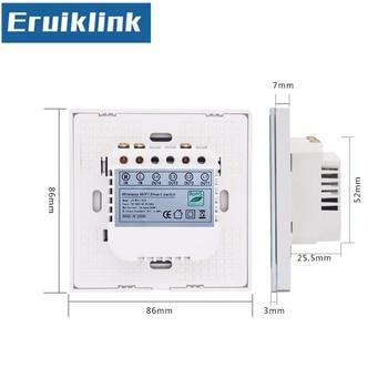 EU/UK มาตรฐาน eWelink APP รีโมทคอนโทรล, 1/2/3/4 1 สมาร์ทหน้าแรก WiFi Wall  Touch Switch