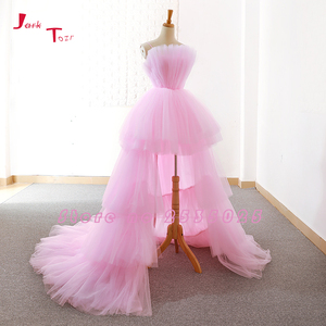 Image 2 - Jark Tozr תפור לפי מידה גבוהה נמוך שמלות נשף Vestido דה Festa  סין ורוד פורמליות שמלות Ballkleider