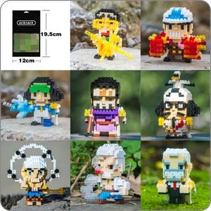 SC Anime One Piece Navy General Sengoku Garp Smoker Sakazuki Kuzan Enel DIY Small Mini Diamond Blocks Building Toy New in Bags(China)