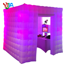 цена 2.5m 2 doors Nice Cabin Inflatable Photo Booth With LED lights and Inner Air blower Air Tent For Wedding, Party, Events For Sale в интернет-магазинах