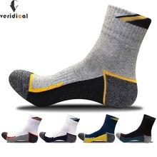 5ペア/ロット綿の男性の靴下圧縮靴下の少年厚い冬標準meias良質通気性薄手の作業靴下5色