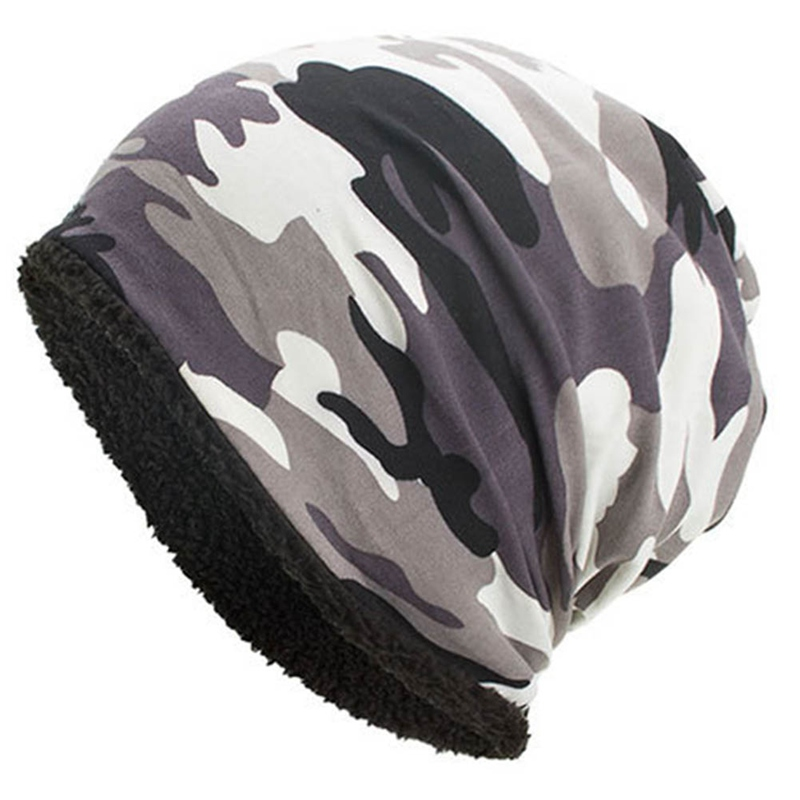 Camouflage Flower   Beanie   Men Bonnet Bone Head Cap Winter Cotton   Skullies     Beanies   Caps Hat Bonnet Homme Gorro