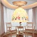 Tiffany Stil Dia. 20 cm Runde Glasmalerei Eisen LED E27 Decke Lichter Mittelmeer Lampe für Schlafzimmer Gang Balkon Korridor-in Deckenleuchten aus Licht & Beleuchtung bei
