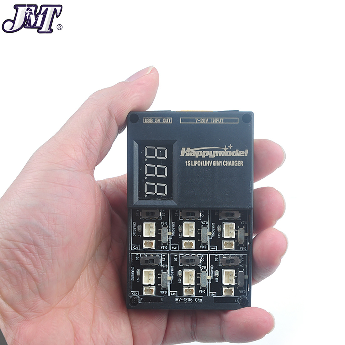 6 in 1 3.7V 3.8V 1S Lipo LiHv Battery Charger Board for Tiny 6 7 QX65 Mobula7 Mini RC Quadcopter FPV Racing Drone Bwhoop Parts-in Parts & Accessories from Toys & Hobbies