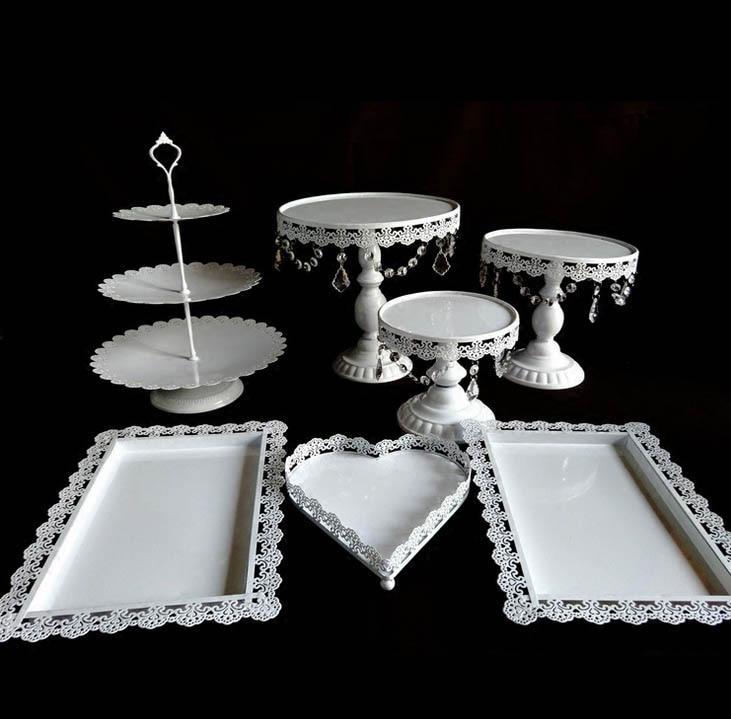 5 12 шт./комплект торт стенд crystaMetal гладить Белое Золото Свадебные десерт лоток кекс Пан торт отображения таблицы украшения вечерние питания