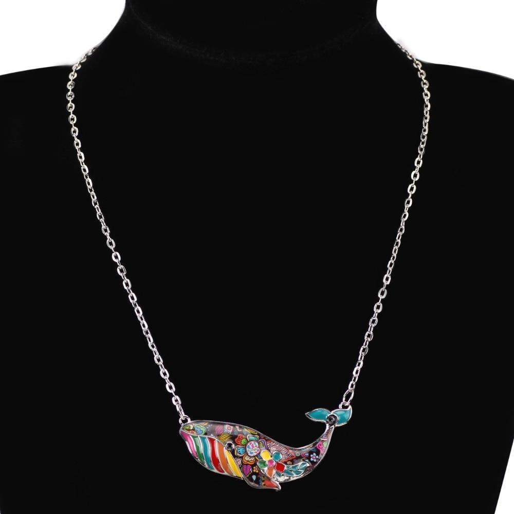 Bonsny OCEAN Colección Maxi Declaración de Esmalte Collar de Cadena - Bisutería - foto 6