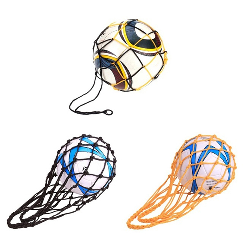 3 Colours Sports Soccer Mesh Net Bag Basketball Volleyball Soccer Net Load 1 Ball Soccer Ball Pocket Portable Small Net