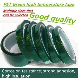 Hot 35mm-70mm żaroodporna PET wysokotemperaturowa zielona maskująca taśma ochronna do PCB lutowana ochrona izolacyjna