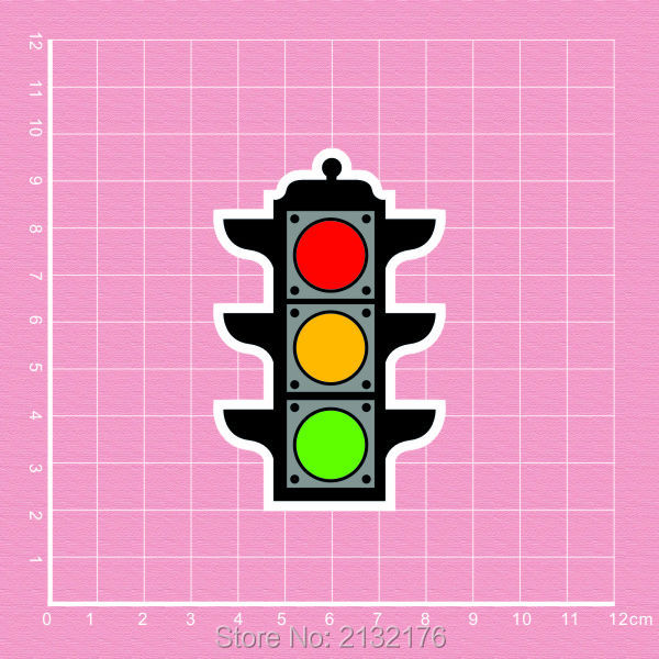 Traffic light doodle Notebook skateboard trolley backpack Tables book decal PVC Car sticker Colorful