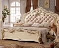 Diseño de la cama doble de lujo vivienda usada cama king size soft 0409-A816