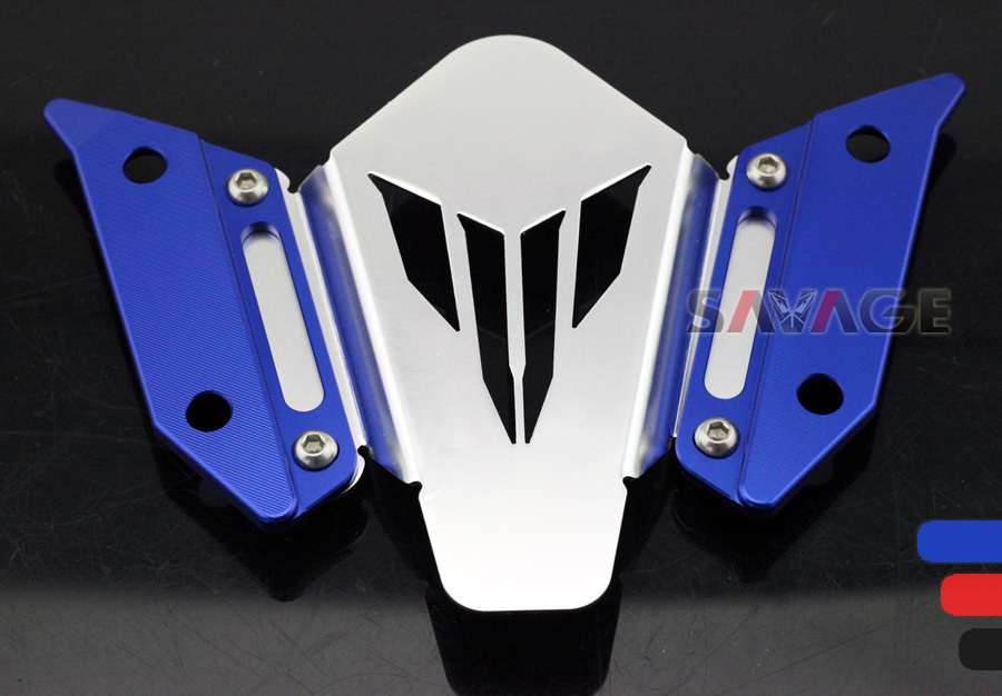 For YAMAHA FJ-09 / MT-09 Tracer 2015-2016 Motorcycle Accessories CNC Aluminum Windscreen Windshield Mount Bracket Red/Blue/Black motorcycle accessories fairing windshield body work bolts nuts screws for yamaha mt 01 mt 02 mt 03 mt 07 mt 09 tracer mt 10 abs