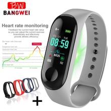 цена 2019 New Sport Waterproof Smart Bracelet Heart Rate Blood Pressure Monitor Smart watch Fitness Tracker Pedometer PK mi band 4 онлайн в 2017 году