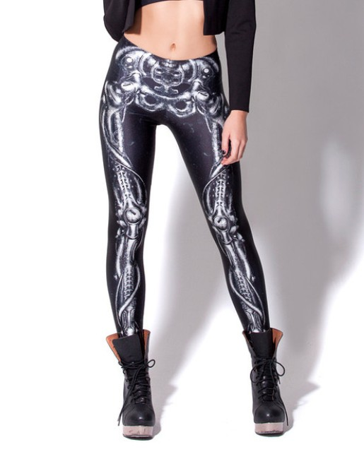 Hot Sales 10 Patterns 3D Skeleton Printing Spring Autumn Punk Black Pants For Women Running Jogging Pants S To 4XL ...