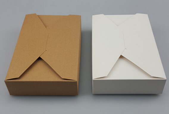 Paper gift box envelope type kraft cardboard for How to make a letterbox out of cardboard