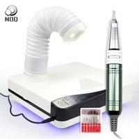 Noq 4 в 1 пылесос для ногтей 65 Вт Мощный пылесборник для ногтей с гель лаком дрель для маникюра вентилятор для ногтей всасывание пыли