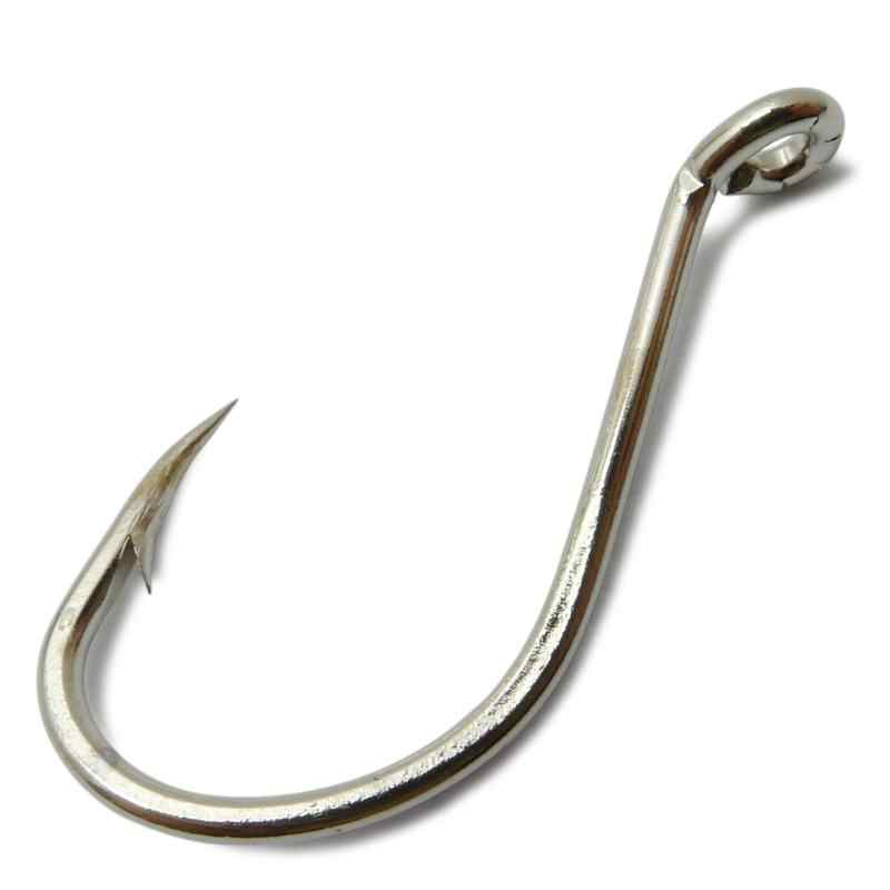 20pcs 8299 High Carbon Steel Seawater Fishing Hooks Octopus Beak Silver Hook 4/0 5/0 6/0 7/0 8/0