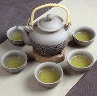 Rusty Japanese style retro tea set, a pot of six cups of antique tea set of seven sets of pure handmade Furong Kung Fu tea
