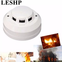 LESHP Wired Networking Sensor Smoke Detector For Sale Optical Host Components Smoke Detector Alarm For Gsm