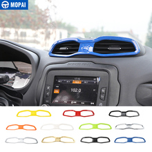 MOPAI ABS Car Interior Dashboard Air Condition Vent Outlet Decoration Cover Frame Stickers for Renegade 2015-2016 Car Styling mopai interior mouldings for car door speaker decoration cover ring cover frame trim for jeep renegade 2016