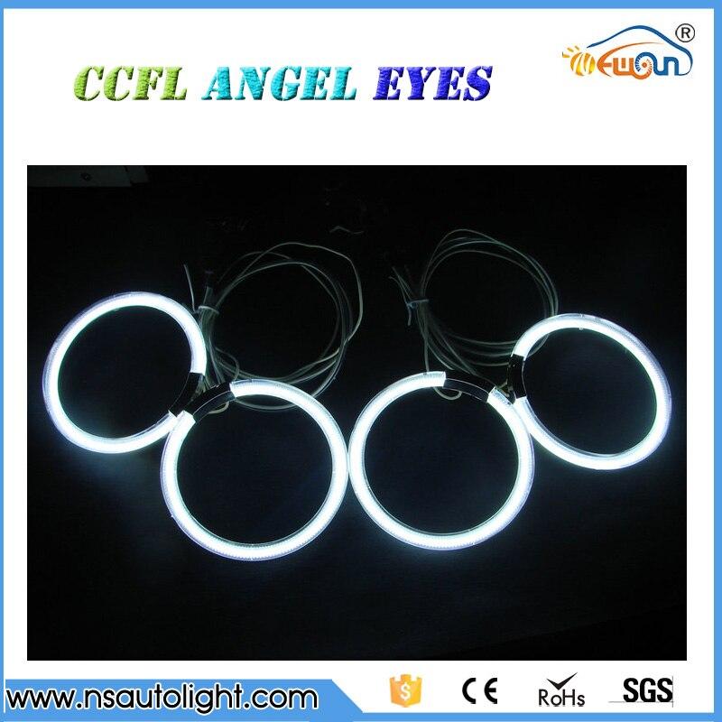4x105mm CCFL anillos kit para bmw e46 2D blanco azul amarillo rojo halo CCFL anillos CCFL e46 anillos Angel Eyes iluminación coche de estilo