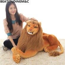 цена на 1Pc 30-110cm Simulation Lion Plush Toys for Children Kids Cute Beauty and Beasts Cartoon Stuffed Toy Birthday Gift Home Decor