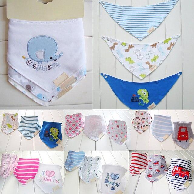 Tienda Online 3 unids/set bebé Baberos algodón babero Baberos ...