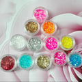 1 jar sequin hexágono glitter pó poeira faísca para UV unhas de acrílico, belas unhas floco paillettes glitter pigment decoração