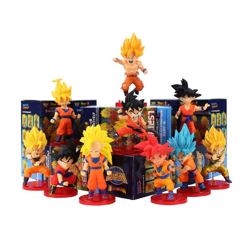 10pcs Set Dragon Ball Z DBZ Super Saiyan Son Gokou PVC Figures Fans Kids Gift