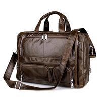 Большая емкость 100% коровья натуральная кожа сумка мужская 17,5 дюймов Высокое качество сумка для ноутбука 17,3 17 дюймов Сумка через плечо делов