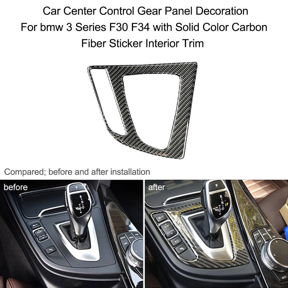 carbon fiber sticker car styling solid color interior trim car decoration for bmw for bmw f30