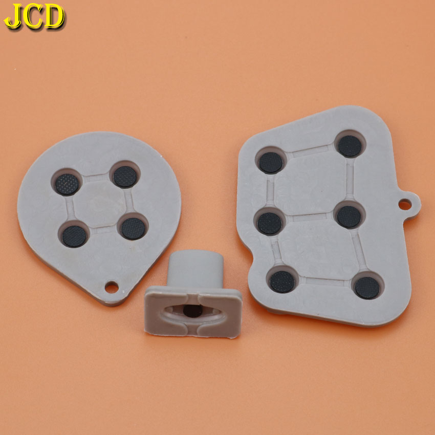 JCD 1Set Silicone Conductive Rubber Pad Button Start Key Pads Button For Sega Saturn SS Controller