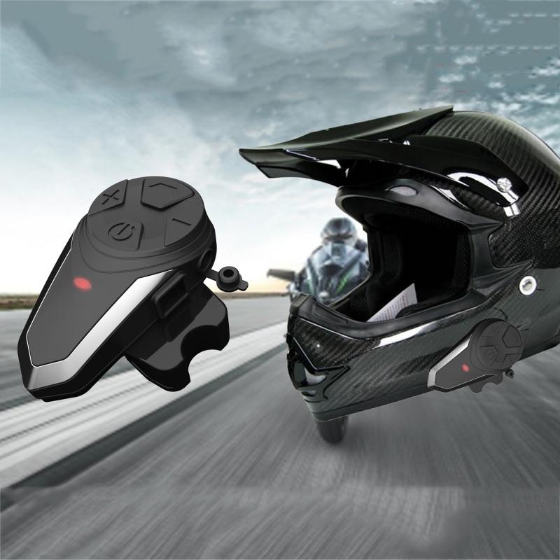 Portable Motorcycle Helmet Intercom Bluetooth Headphone Waterproof  Interphone FM With American Europe England Charger