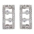 Noble Mujeres 925 sterling silver White Cubic Zirconia Pendientes S-YE00522 modelos de Explosión de Compromiso de la Boda regalo de Navidad de Lujo