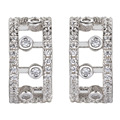 Noble Women 925 sterling silver White Cubic Zirconia Earrings S-YE00522 Engagement Wedding Explosion models Christmas gift Fancy