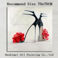 The Black High Heeled Shoes With Flower Of Ladies Favorite Decoration Artist Handmade High Quality Modern