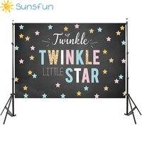 Sunsfun Fondale 7x5ft Twinkle Twinkle Little Star Lavagna Di Compleanno Baby Shower Invito Compleanno Celebrazione