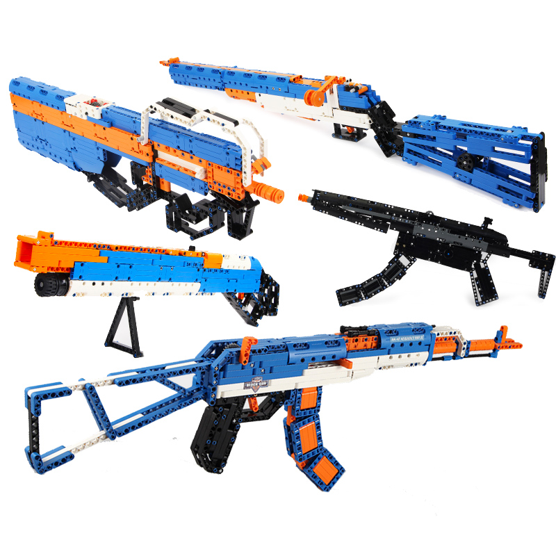 AWP Revolver Pistol GUN SWAT Technic Military Army Model Building Blocks Brick Weapon compatible legoingly Toys For Boys WW2 цена