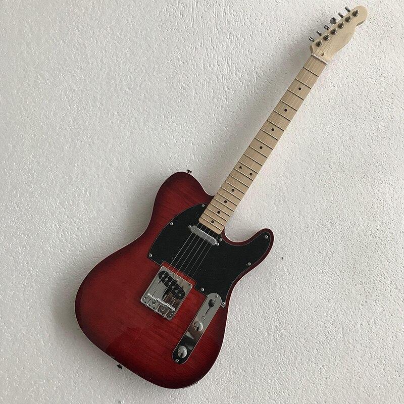 39 pouce paulownia bois fendu TELE unique couche bordure électrique guitare