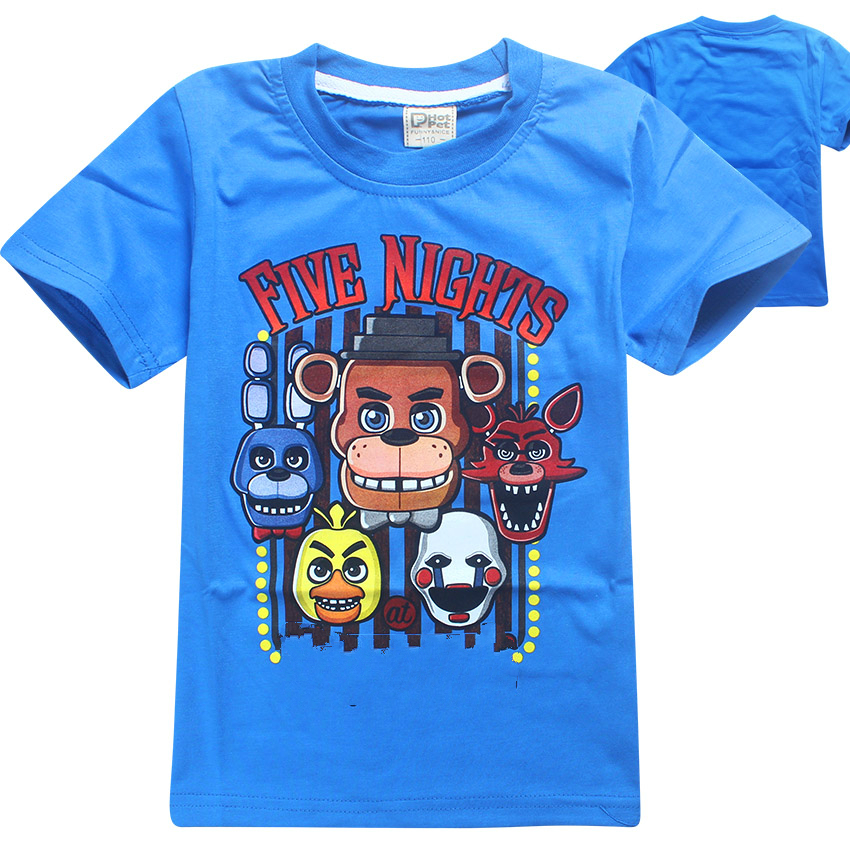 Summer Children's T-shirts Five Nights At Freddy's Boys Girls Clothing Kids T Shirt 5 Freddys Baby Clothes Tops Tees 3-12Y 2 3 4 5 6 8 10 12 years old kids fnaf t shirt five night at freddy boys t shirt children cartoon clothing kids summer tops tees